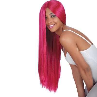 Parrucca lunga rossa