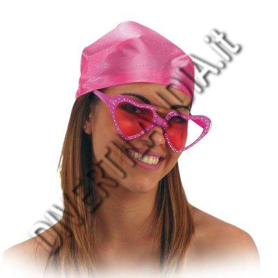 occhiali a cuore rosa