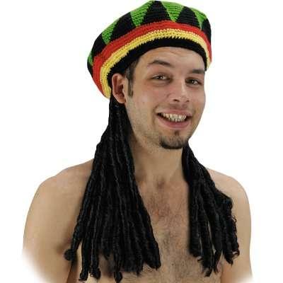 Parrucca rasta e cappello