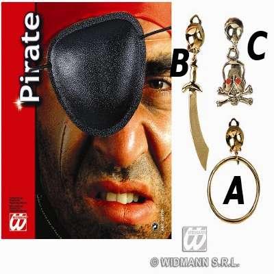 Benda e orecchino pirata