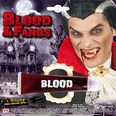 Dentiera da vampiro con sangue