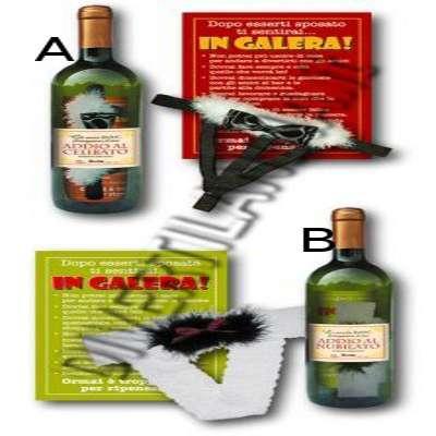 Bottiglia per addio al celibato/nubilato