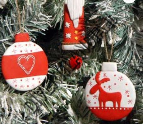 Palla di Natale in marzapane
