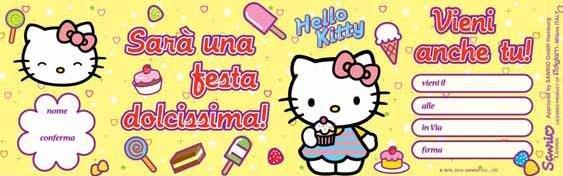 Biglietto Festa Dolcissima Hello Kitty