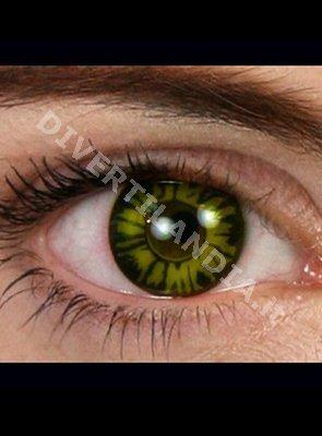 Lente a contatto verde da Lupo