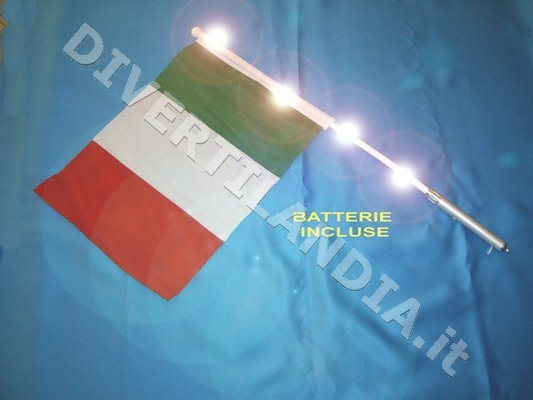 Bandierina luminosa Italia