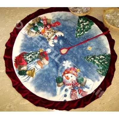 Tappeto sotto albero di Natale