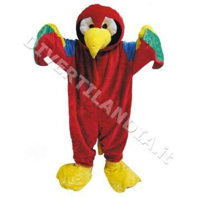 Costume Mascotte pappagallo