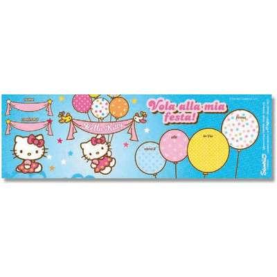 Biglietti Inviti Hello Kitty