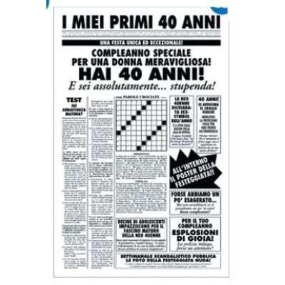 BIGLIETTO QUOTIDIANO PRIMI 40 ANNI