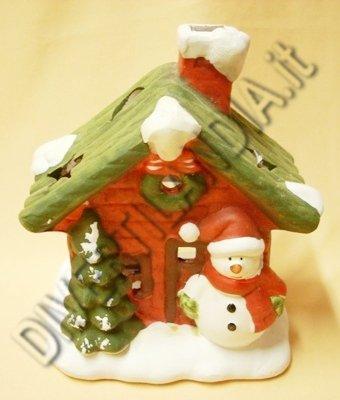 Casina di Natale con pupazzo